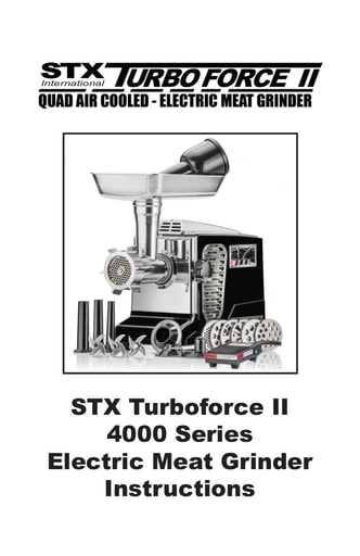 STX Turbo II Instructions